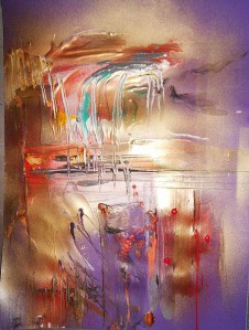 fluidity of being painted caught in motion
