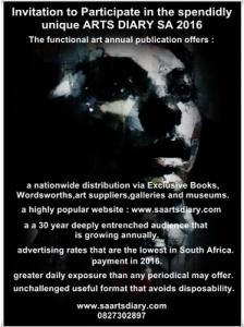 INVITATION TO PARTICIPATE IN THE SPLENDIDLY UNIQUE ARTS DIARY SA 2016